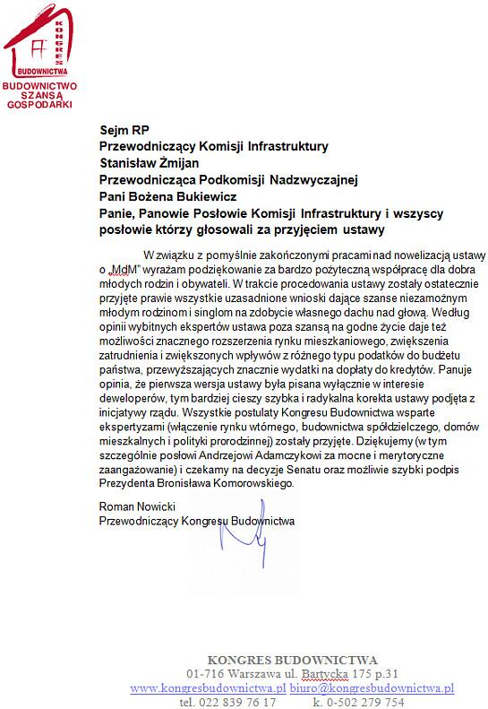 Aktualności Kongresu Budownictwa Polskiego